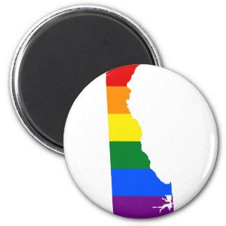 Delaware LGBT Flag Map Magnet