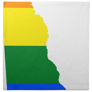 Delaware LGBT Flag Map Napkin