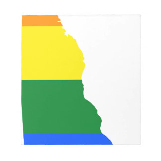 Delaware LGBT Flag Map Notepad