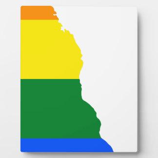 Delaware LGBT Flag Map Plaque