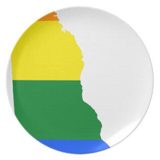 Delaware LGBT Flag Map Plate