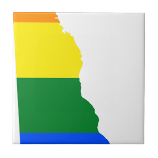 Delaware LGBT Flag Map Tile