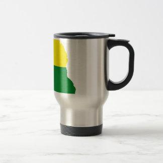 Delaware LGBT Flag Map Travel Mug