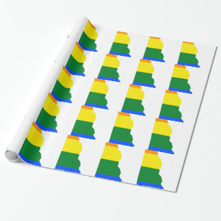 Delaware LGBT Flag Map Wrapping Paper
