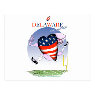 delaware loud and proud, tony fernandes postcard