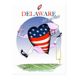delaware loud and proud, tony fernandes postcard
