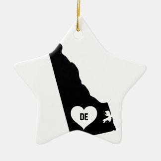 Delaware Love Ceramic Ornament