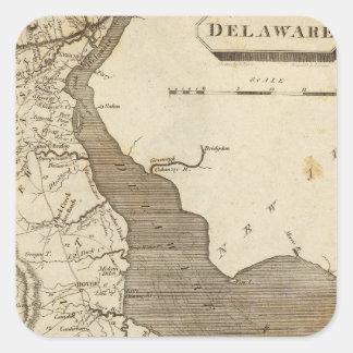 Delaware Map by Arrowsmith Square Sticker