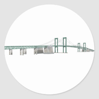 Delaware Memorial Bridge: 3D Model: Round Sticker