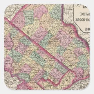 Delaware, Montgomery, Bucks counties Square Sticker