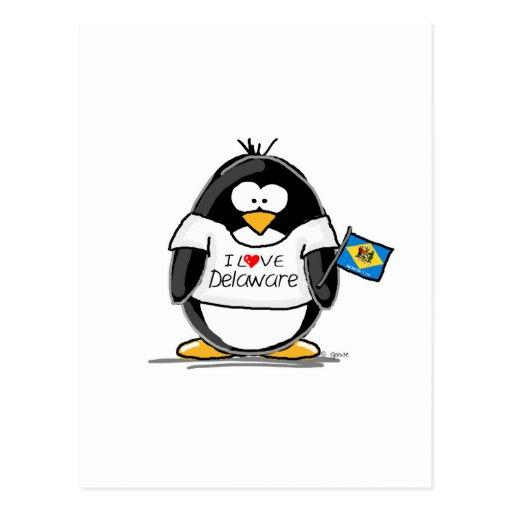 Delaware Penguin Post Card