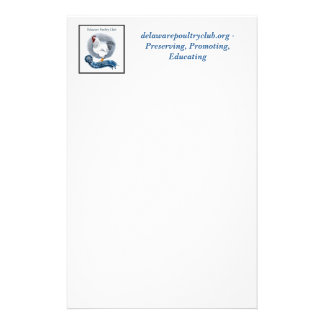 Delaware Poultry Club Stationary style 1 Stationery