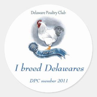 "Delaware Poultry Club Sticker 3"""