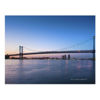 Delaware River, Ben Franklin Bridge Postcard