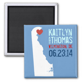 Delaware Save the Date - Customizable City Magnet