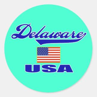 Delaware Script Sticker