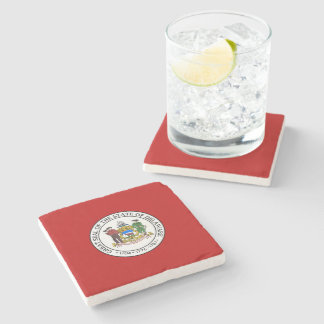 Delaware seal, American state seal Stone Coaster