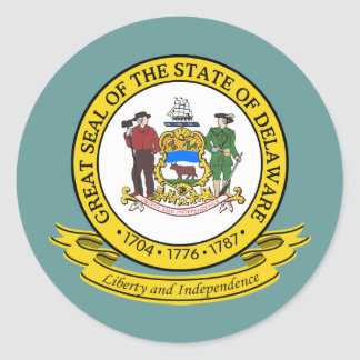 Delaware Seal Round Sticker