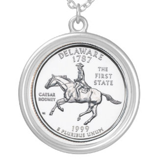 delaware silver plated necklace