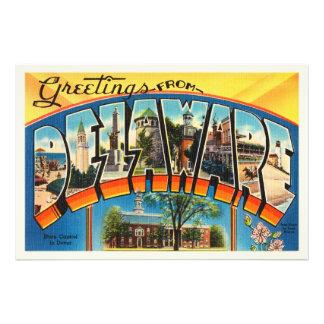 Delaware State DE Old Vintage Travel Postcard- Photo Print