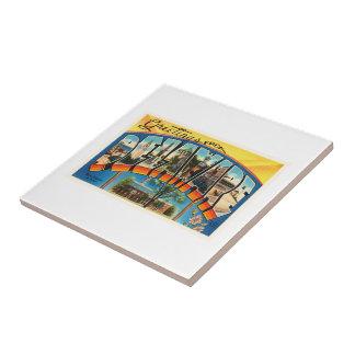 Delaware State DE Old Vintage Travel Postcard- Tile