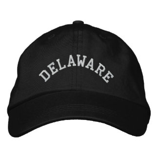 Delaware State Embroidered Embroidered Hats