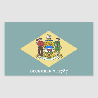 Delaware State Flag, United States Sticker