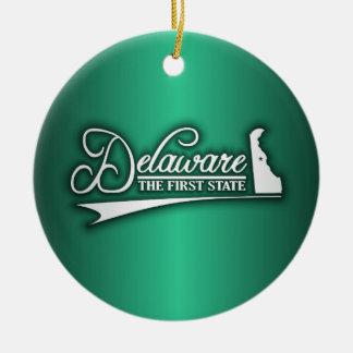 Delaware State of Mine Ceramic Ornament