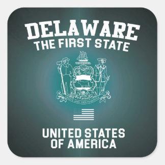 Delaware The First State Square Sticker