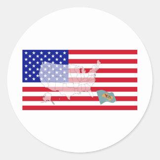 Delaware, USA Round Sticker