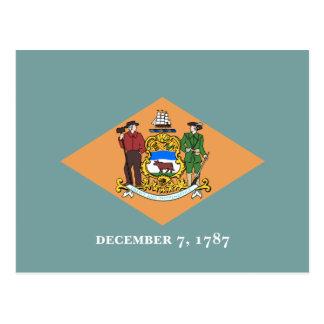 Delaware's Flag Postcard