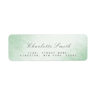 Delciate Script Mint Green Return Address Labels