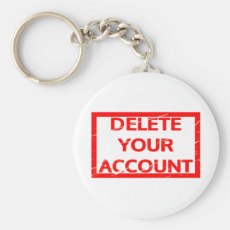 Delete your account Stamp Keychain