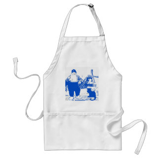 Delft Blue, Dutch Boy and Cat Standard Apron