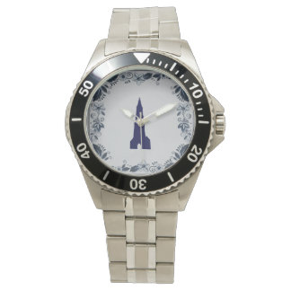 Delft blue tile New Church in Delft Wrist Watches