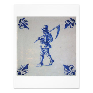 Delft Blue Tile - Template Custom Invites