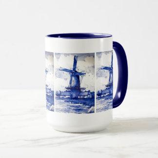Delft Blue Windmill Mug