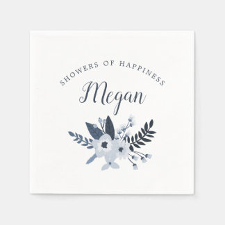Delft Floral Baby or Bridal Shower Paper Napkins