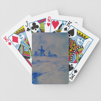 Delft-type scene bicycle playing cards