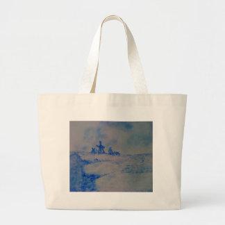 Delft-type scene large tote bag