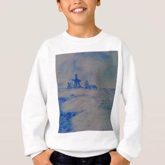 Delft-type scene sweatshirt