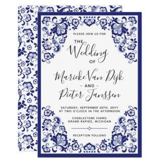 Delfts Blauw   Delft Blue Dutch Wedding Invitation