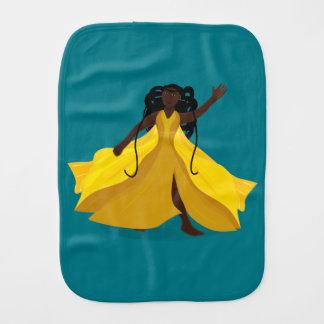 Delia in a Yellow Dress Burp Cloth