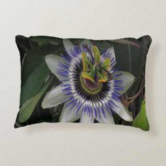 Delicate and Beautiful Passiflora Flower Accent Pillow