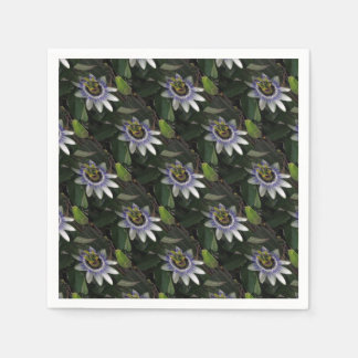 Delicate and Beautiful Passiflora Flower Disposable Napkin