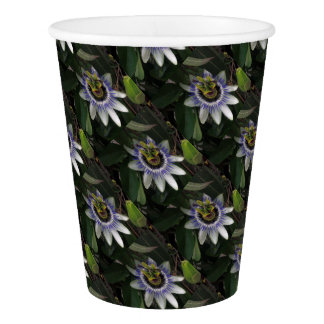 Delicate and Beautiful Passiflora Flower Paper Cup