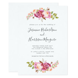 Delicate and Dreamy Bouquet Wedding Invitation