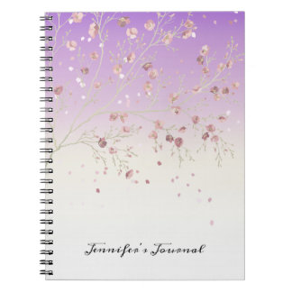 Delicate and Feminine Purple with Tree Notebook