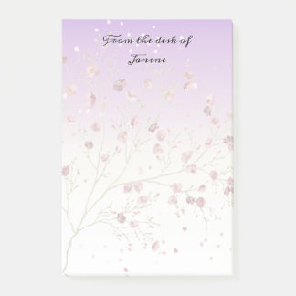 Delicate and Feminine Purple with Tree Post-it Notes