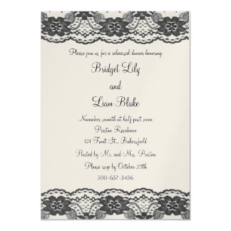 Delicate and Lacy Rehearsal Dinner (champagne) Card